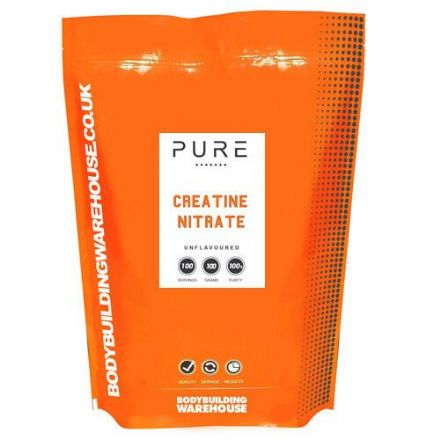 Pure Creatine Nitrate Powder 50/100 Servings; Bodybuilding Warehouse